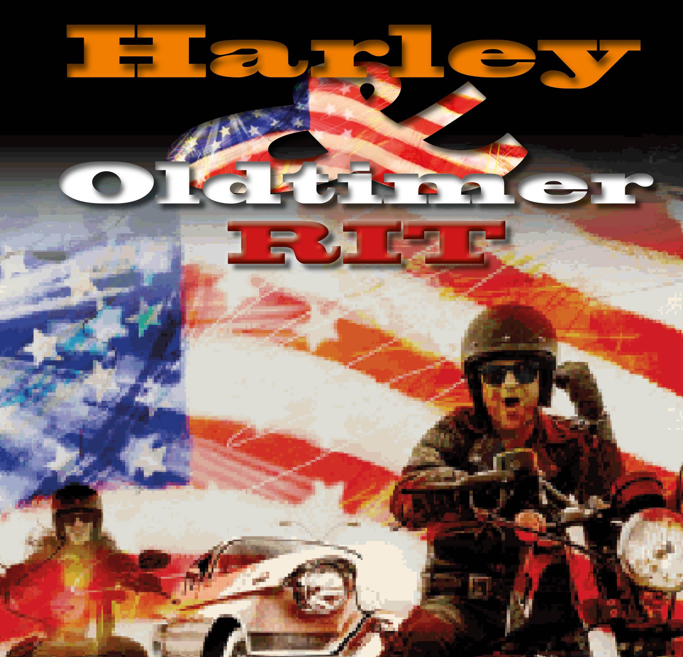 Harley en Oldtimer Rit
